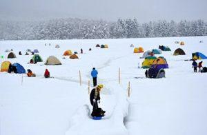 霊仙寺湖氷上ワカサギ釣り
