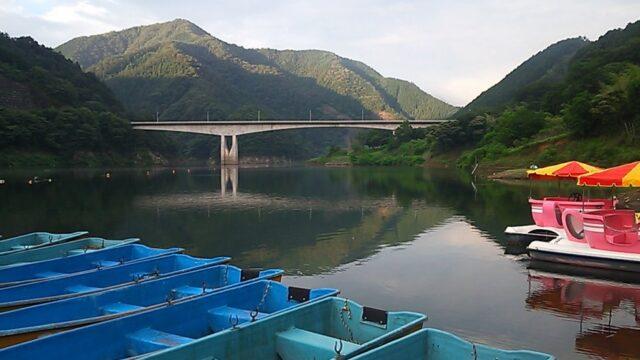 梅田湖のボード釣り